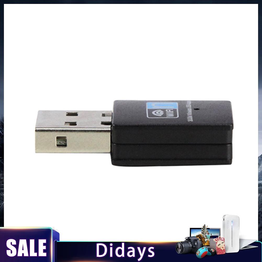 อะแดปเตอร์แปลงสัญญาณ price300 Mbps Mini USB Wireless WiFi Dongle สำหรับ PC  Laptop LAN Network 2 4 GHz