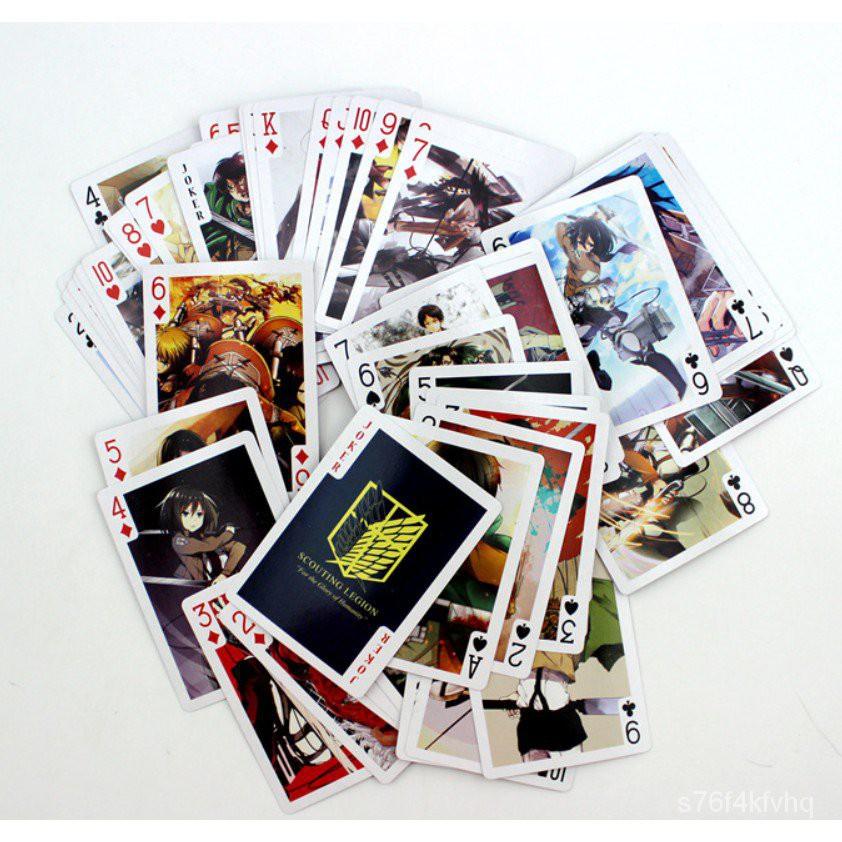 Attack on titian ผ่าพิภพไททัน เป็นคลิกのยักษ์ATTACK ON TITAN เล่นไพ่ คอลเลกชัน table game เกมส์สำหรับครอบครัว DayF