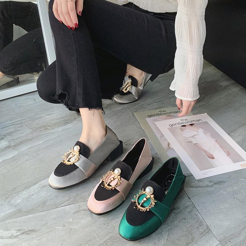4cm รองเท้า รองเท้าส้นสูง รองเท้าคัชชูแฟชั่น รองเท้า เกาหลี