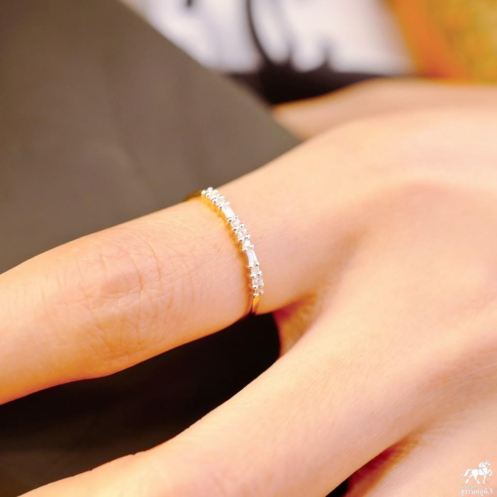 แหวนเพชรแท้ทองคำแท้ SWP3 No.2 เพชรเบลเยี่ยมคัท ทองคำแท้ 9k (37.5%) ในราคาเปิดตัว ✅ ขายได้ มีใบรับประกัน