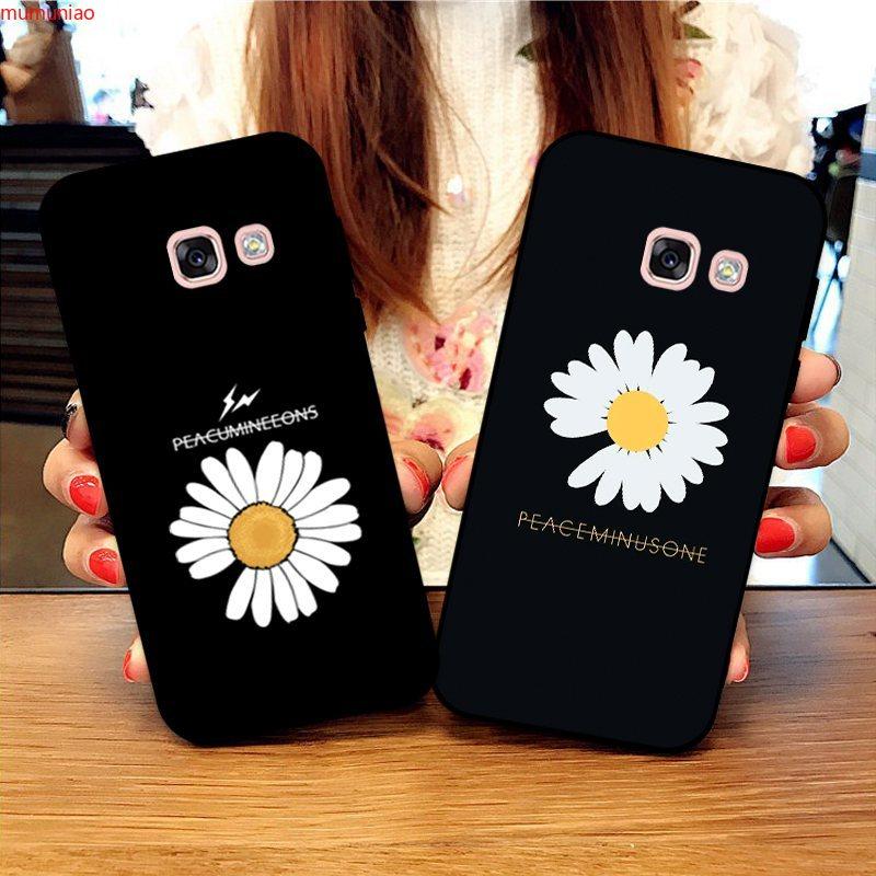 Samsung A3 A5 A6 A7 A8 A9 Pro Star Plus 2015 2016 2017 2018 Daisy Pattern-3 Silicon Case Cover