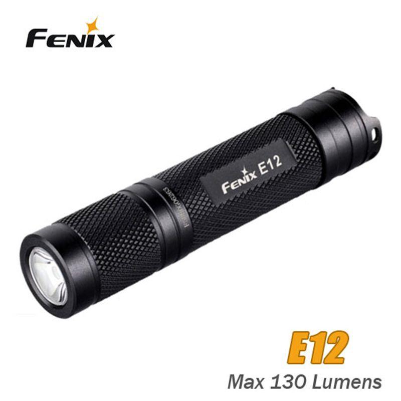Original fenix e12 ไฟฉาย cree xp - e2 130 lumen 2 โหมดไฟฉายมือถือ led กันน้ํา