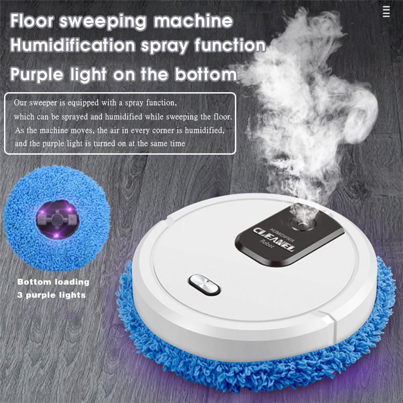 พร้อมส่ง หุ่นยนต์ เครื่องทำความสะอาดอัจฉริยะ เครื่องกวาดฝุ่น อัตโนมัติ เครื่องถูพื้น สะอาด ชาร์จแบตได้