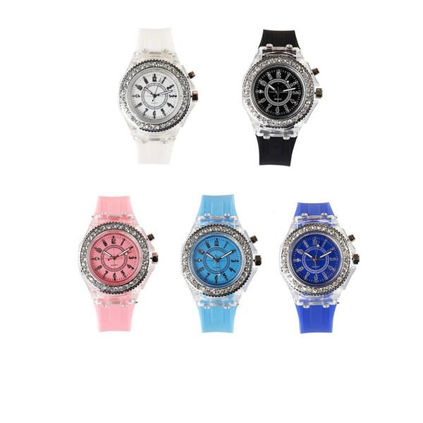 นาฬิกาข้อมือแบบเรืองแสง ซิลิคอน สำหรับผู้หญิง