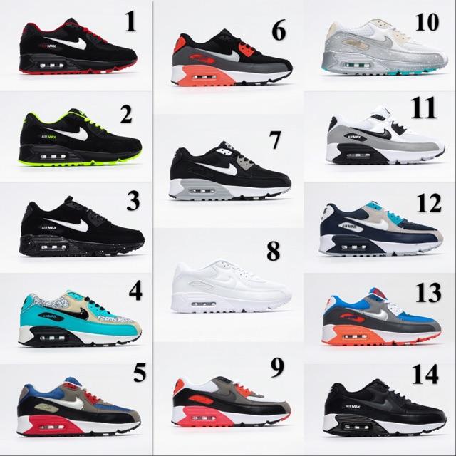 การลดราคา ReadyStock 14 colors Air Max 90 Shoes Nike Air Max 90