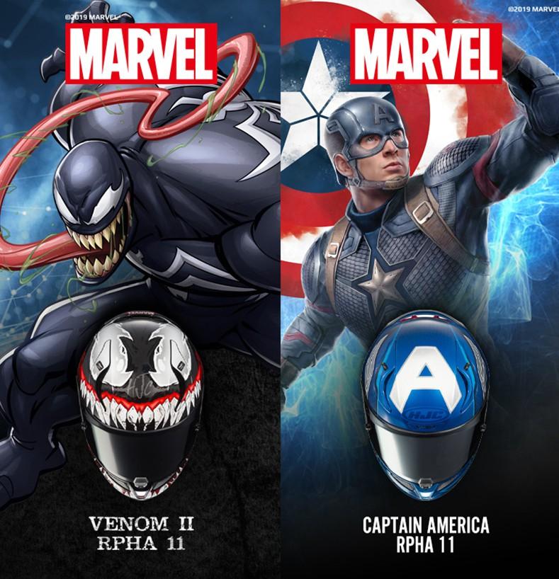 Spot HJC Joint Marvel Venom II Helmet Limited Edition Captain America DC Batman No. 35 Ghost Claw