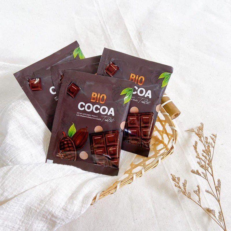 โกโก้อัดเม็ดดีท็อกซ์ ไบโอ Bio cocoa  (1ซองมี7 เม็ด)แบบซอง