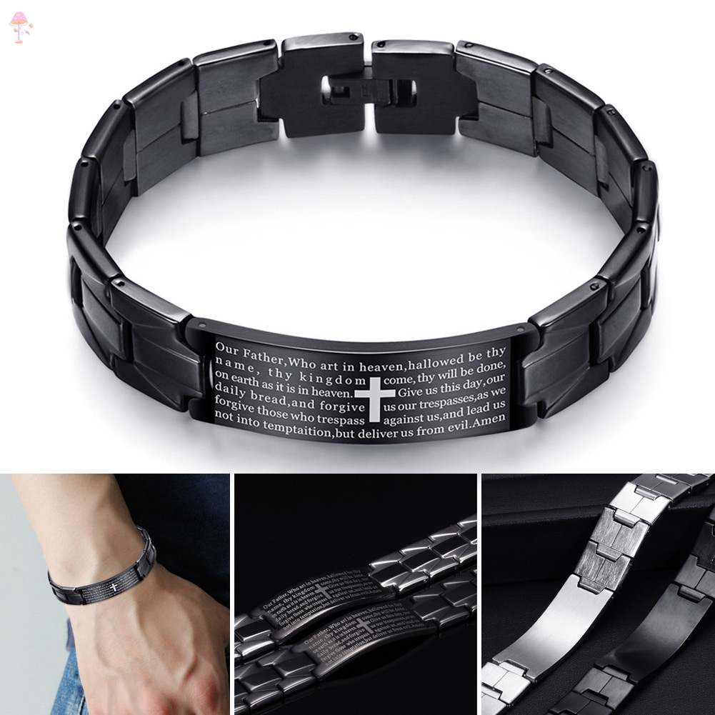 Men Couple Gifts Titanium Stainless Steel Bangle Punk Bracelet Wristbands