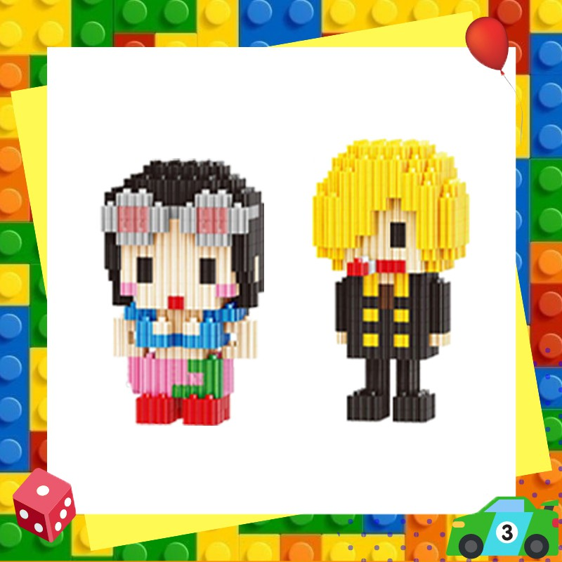 ตัวต่อเลโก้นาโนวันพีชแบบเฟือง Linkgo One Piece Nanoblock Size L