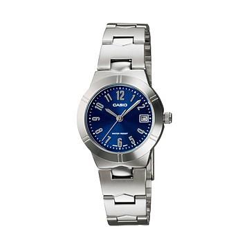 นาฬิกาคาสิโอของแท้ Casio นาฬิกาข้อมือผู้หญิง สายสแตนเลส รุ่น LTP-1241D-2A2DF