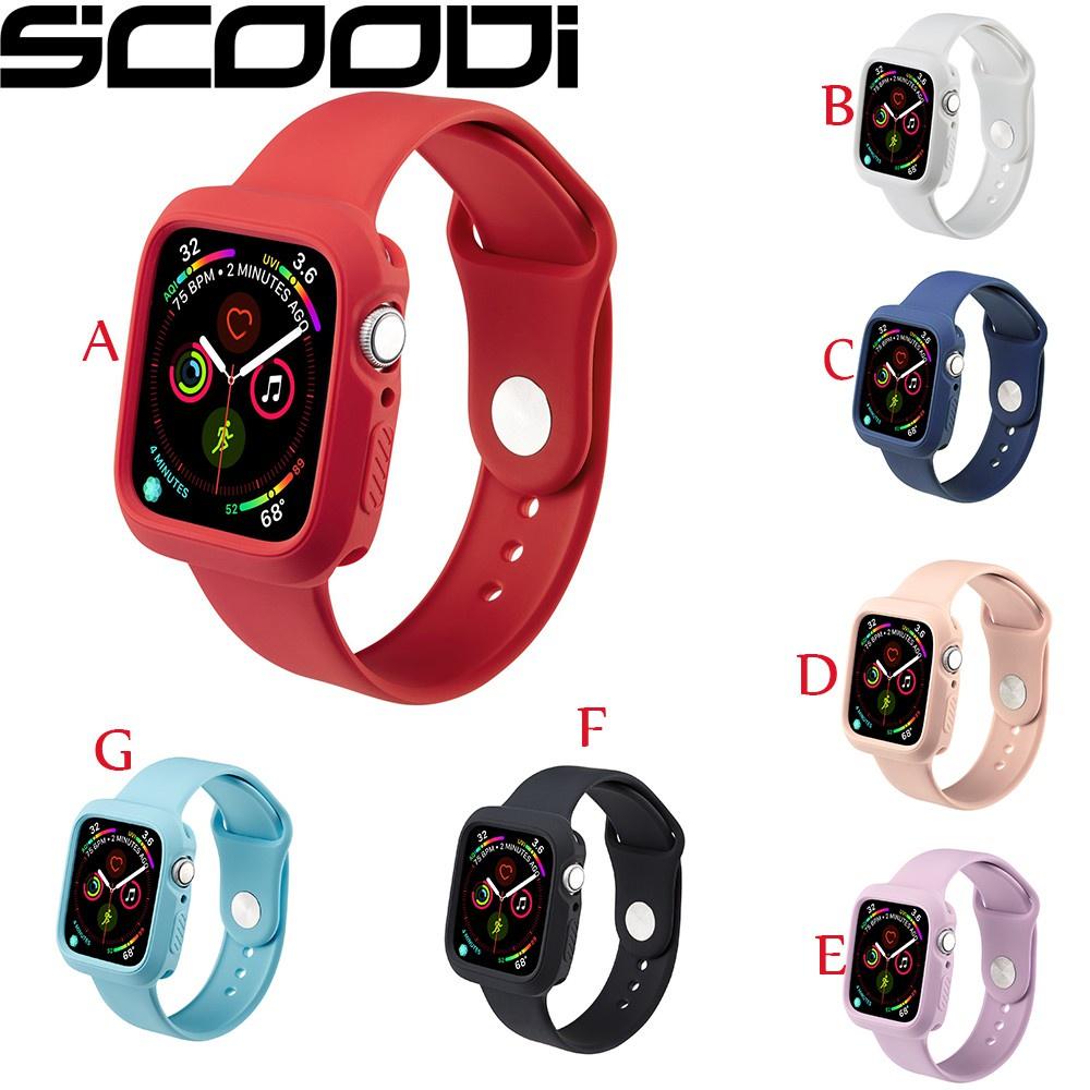 สาย applewatch ายนาฬิกา applewatch 15 colors สายรัดซิลิโคน for Apple Watch Series 6 SE 5 4 40/44mm watch strap