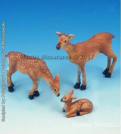 Unpainted Kit 1/35  the Animals Set Deer and Fawn   figure Historical  Resin Figure miniature garage kit Rewi