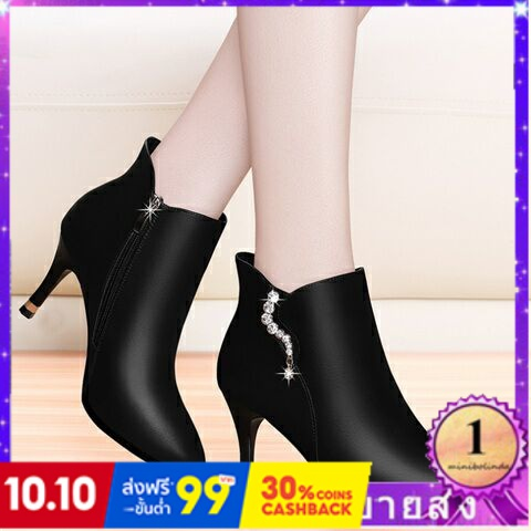 ⭐👠รองเท้าส้นสูง หัวแหลม ส้นเข็ม ใส่สบาย New Fshion รองเท้าคัชชูหัวแหลม  รองเท้าแฟชั่นใหม่รองเท้าผู้หญิงรองเท้าส้นสูงกันน