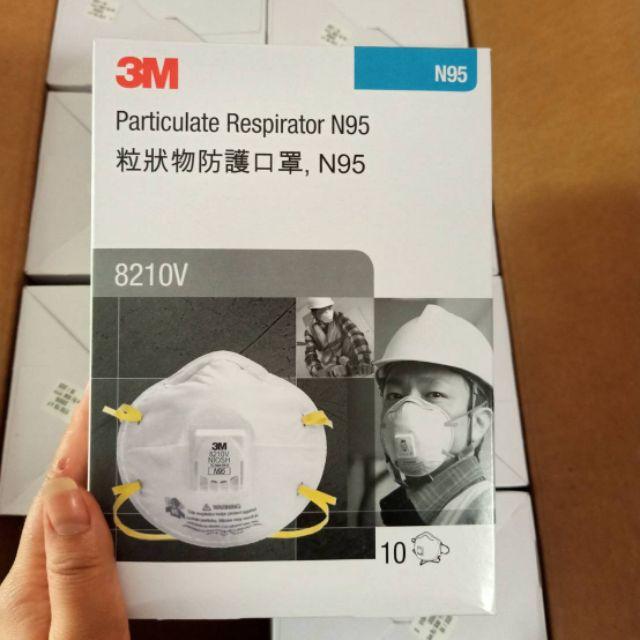 3M  หน้ากาก 8210V N95  แบบมีวาล์ว  (10ชิ้น/กล่อง)