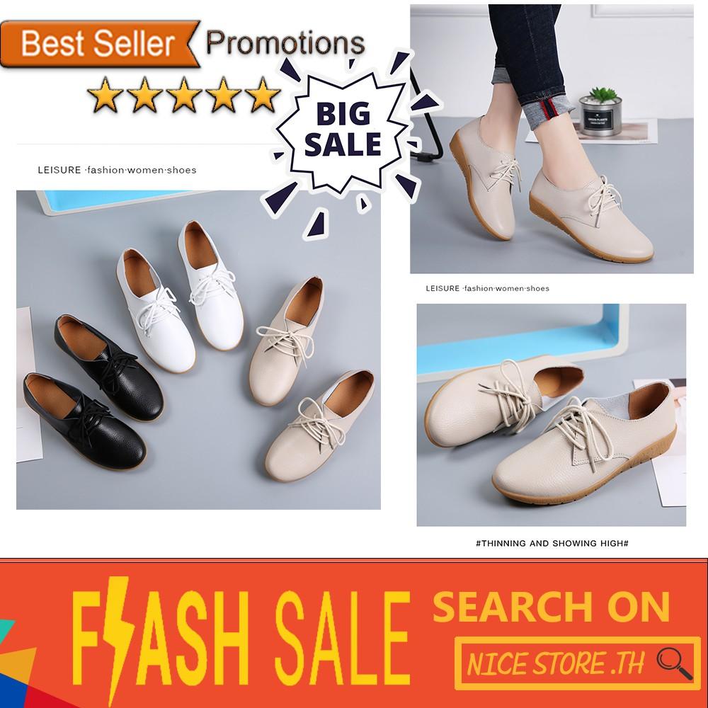 มีสินค้า📣 รองเท้าเกาหลี รองเท้าหนังวัว รองเท้าลำลอง รองเท้าหนังเล็ก รองเท้าคัชชูผู้หญิง