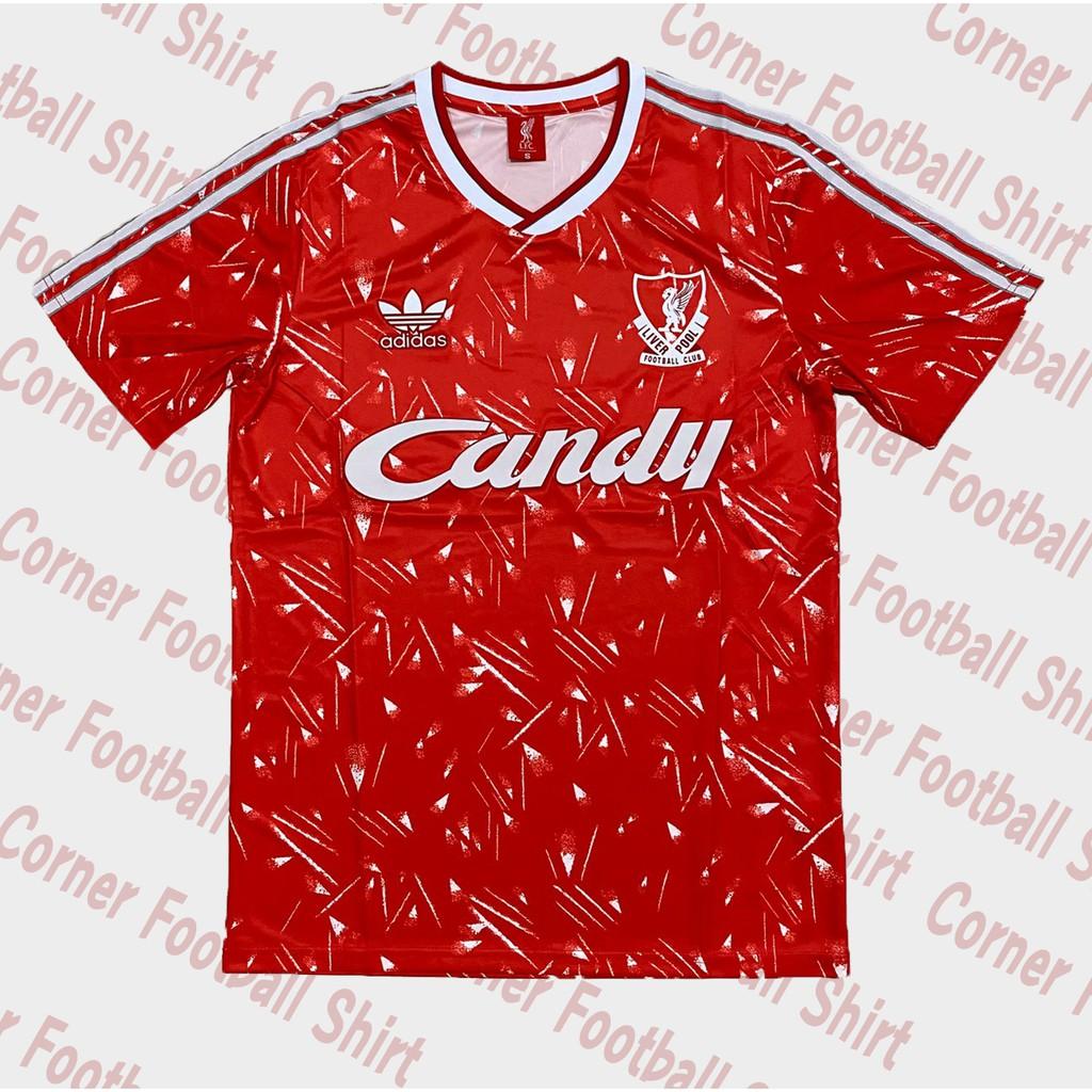 เสื้อฟุตบอลย้อนยุค - ทีมลิเวอร์พูล (อังกฤษ) เหย้า ปี 1989/1991