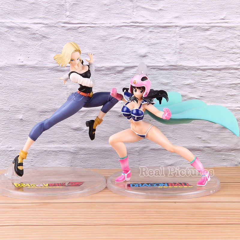 Fighting Ver. ChiChi Android 18 VC Collectible Action Figure Dragon Ball Z lazuli 18 ChiChi Model