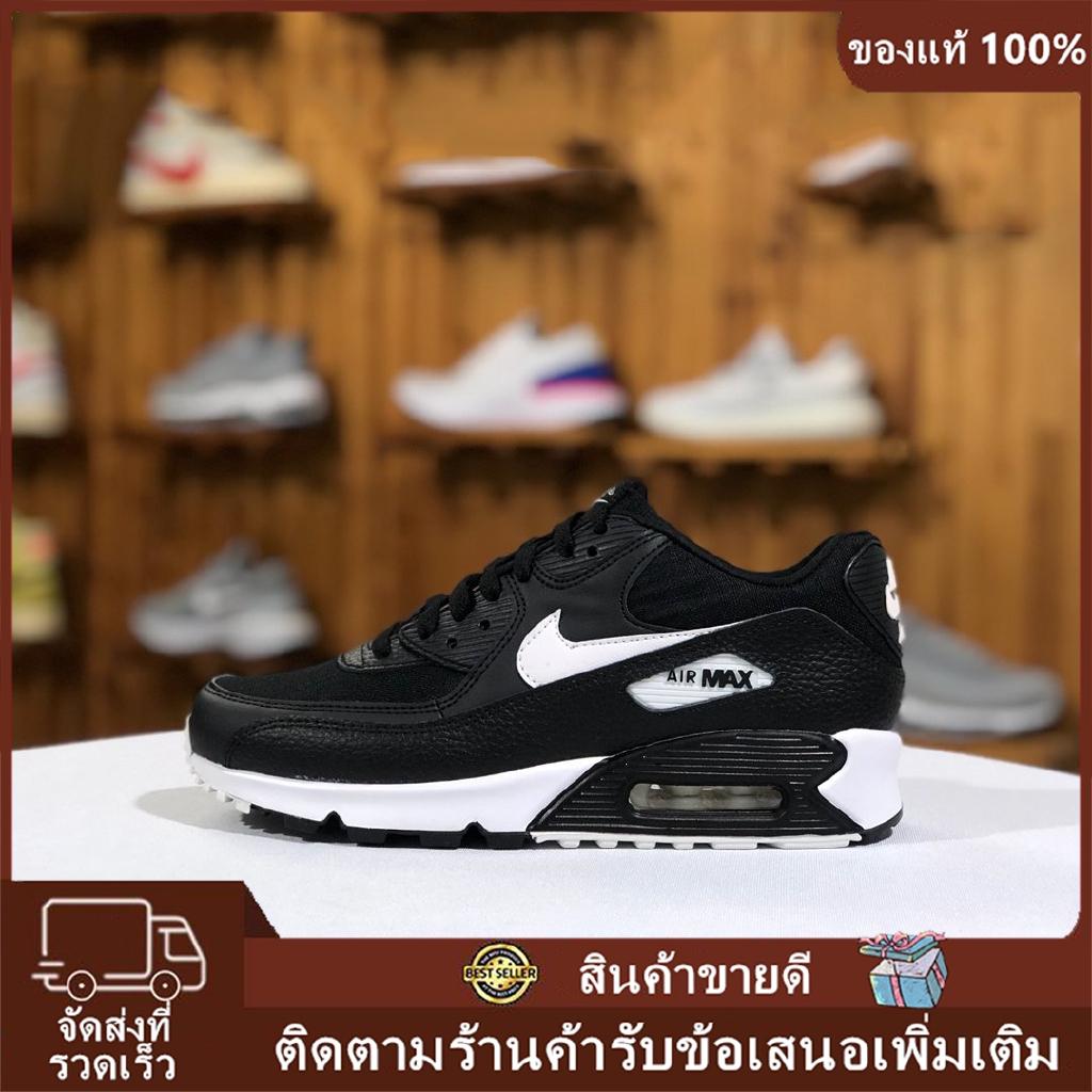 ราคาพิเศษ ของแท้ จัดส่งฟรี  Nike Air Max 90 Essential รองเท้าวิ่งเบาะลม รองเท้ากีฬา (ดำขาว)