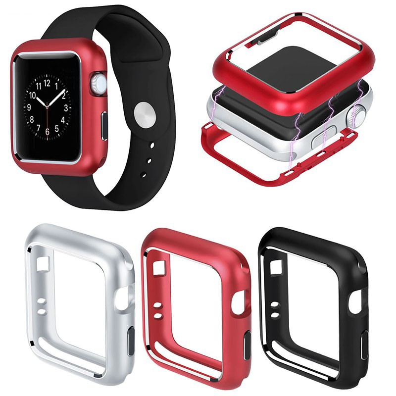 Magnetic Adsorption Metal Frame Protect Case for Apple Watch Series 1 2 3 4 iWatch 40mm 44mm 38mm 42mm Bumper Cover