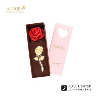 AURORA ออโรร่า ดอกกุหลาบแทนใจ ทองคำแท้ 99.99% น้ำหนัก 0.2 กรัม