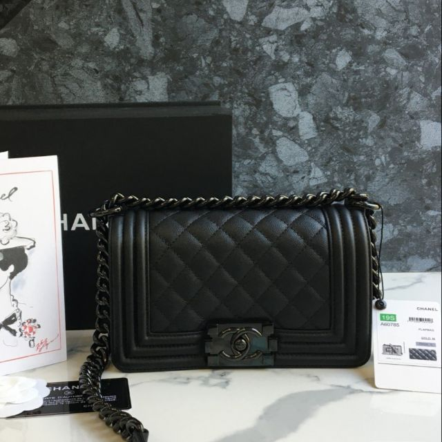 chanel boy8'' So​ black​ VIP​