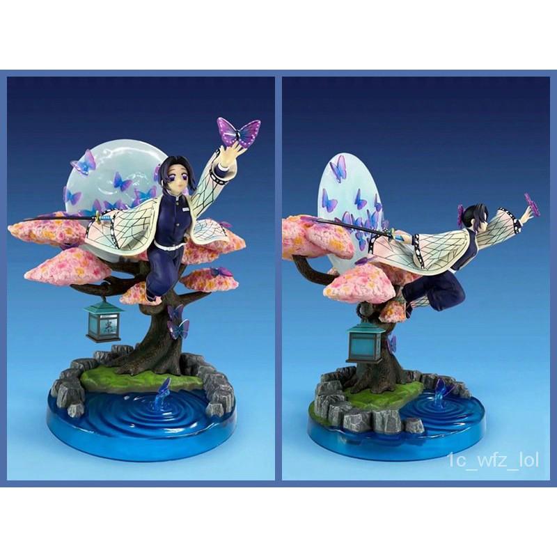 25cm Demon Slayer Kochou Shinobu Action Figure GK Kimetsu No Yaiba Model Collection Toys Doll Christmas Gift#¥%¥# kCSy