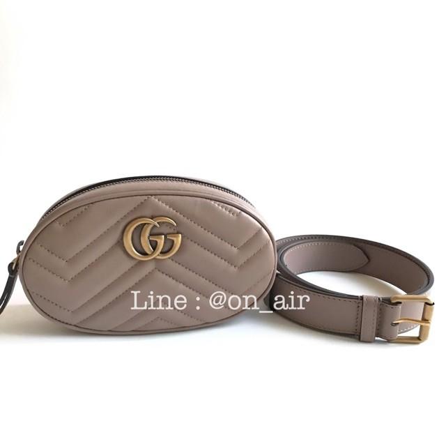 gucci marmont belt bag สีเบจหายากของแท้ 100%