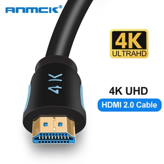 Anmck สาย HDMI TO HDMI Cable เชื่อมทีวี HDMI Male to Male 2.0 Cable สายต่อโทรศัพท์tv with 3D 4K 60Hz สายhdmi #T1