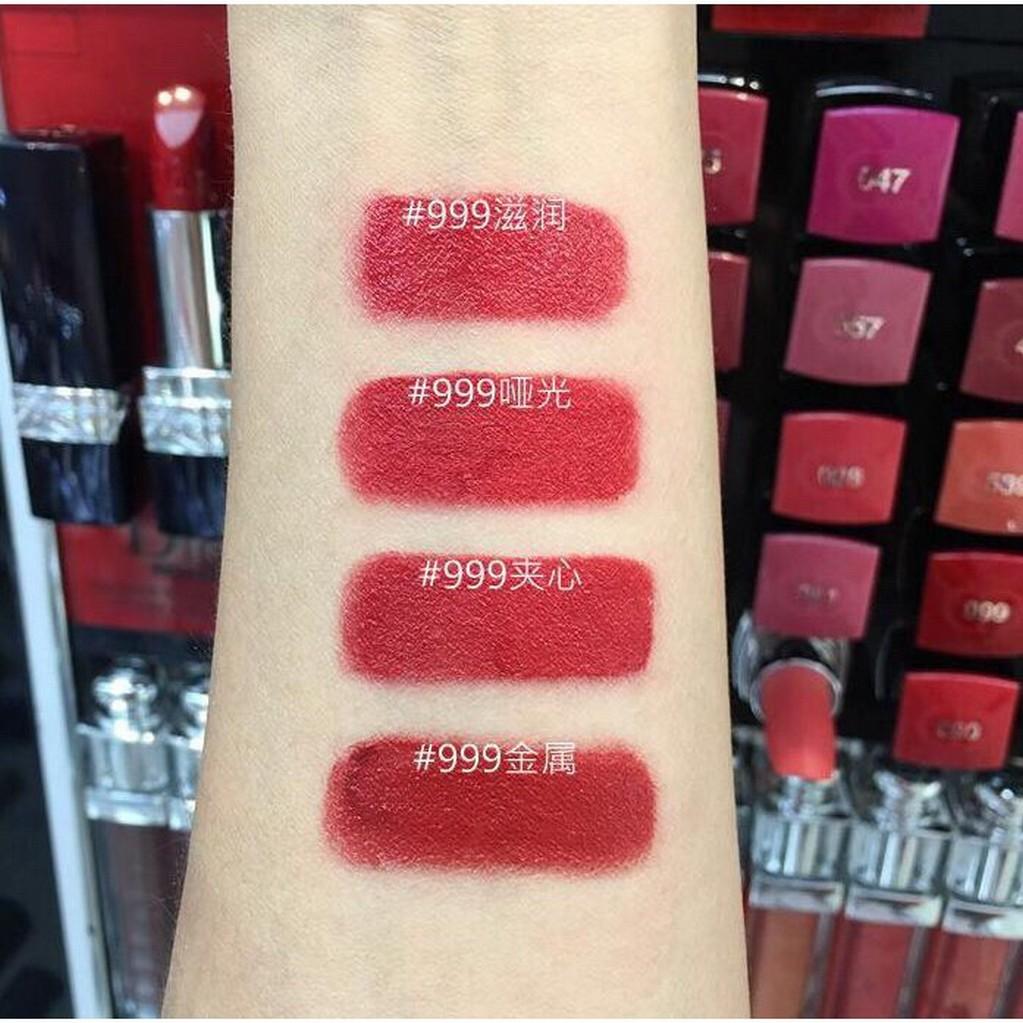 ลิปสติก 999 ROUGE DIOR999 satin Lipstick ลิปสติก Matte 3936