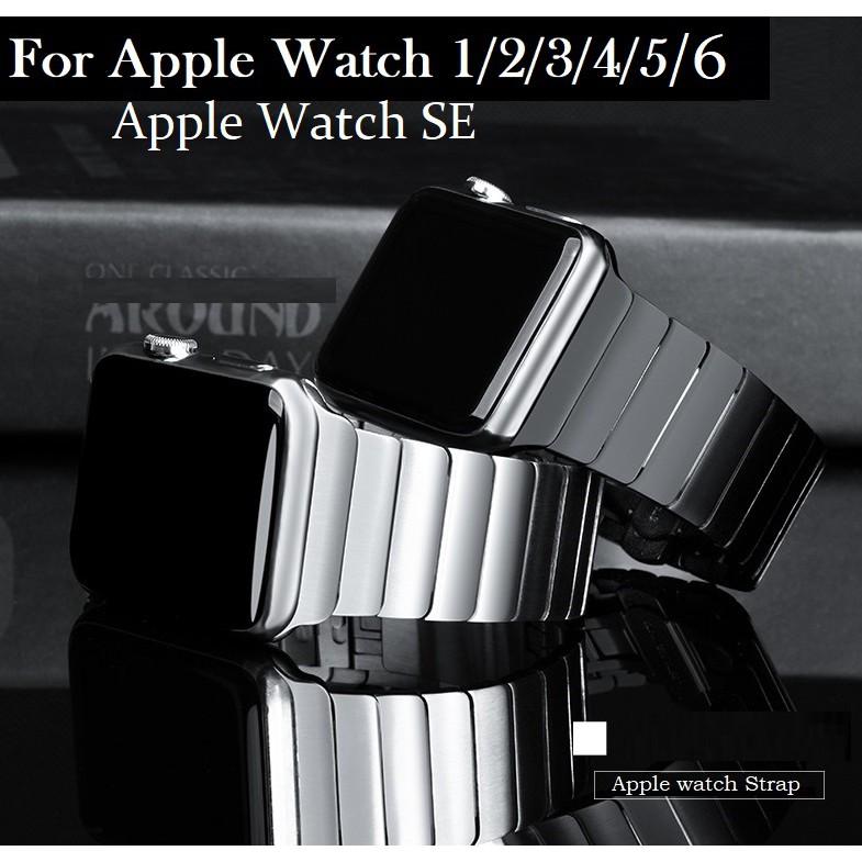 Luxury สายนาฬิกา Apple Watch เหล็กกล้าไร้สนิม สาย Applewatch Series 6 5 4 3 2 1,Apple Watch SE size 38mm 40mm 42mm 44mm stainless steel สายนาฬิกาข้อมือ for apple watch Series 6, Series 5, Series 4 Strap