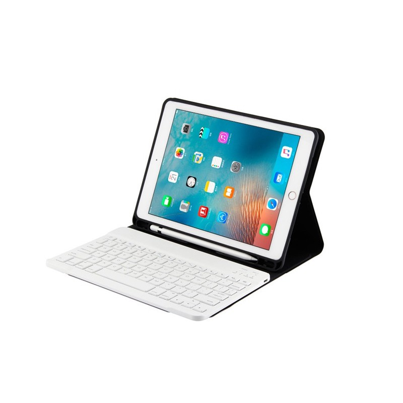 diy✵◘Tablet Keyboard for Apple iPad Mini 4 5 Mini 1 2 3 Bluetooth Keyboard Case With Pencil Holder PU Leather Cover