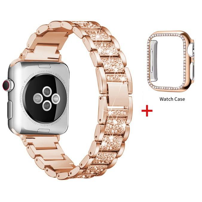 Apple Watch สายนาฬิกา + เคส รูปสี่เหลี่ยมขนมเปียกปูน สาย applewatch Diamonds Straps สาย applewatch, Apple watch Series 1