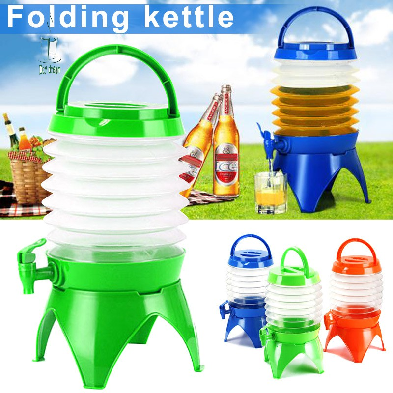 5 Litre Collapsible Folding Water Container Bucket Carrier Tap Storage Camping