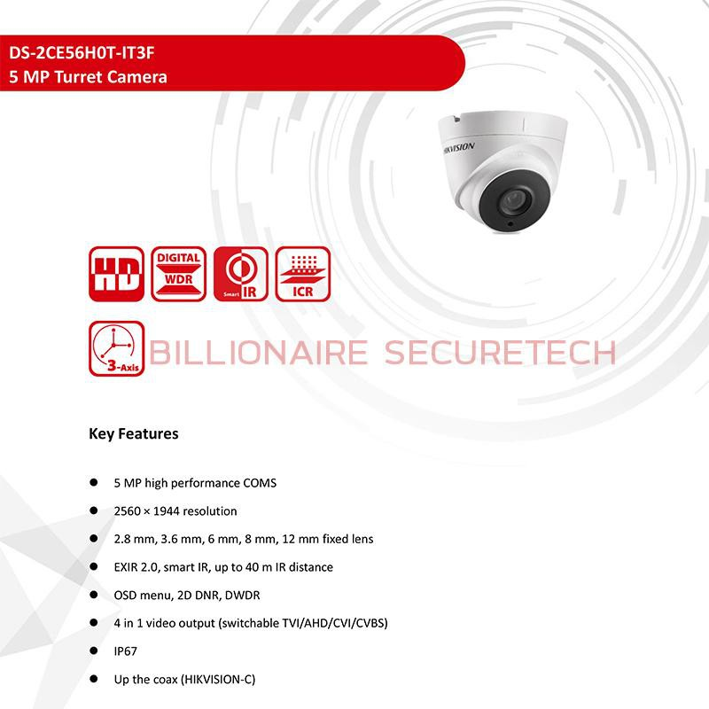 HIKVISION 4IN1 CAMERA ---5 MP--- DS-2CE56H0T-IT3F (3.6mm) 4 ระบบ 9bQo