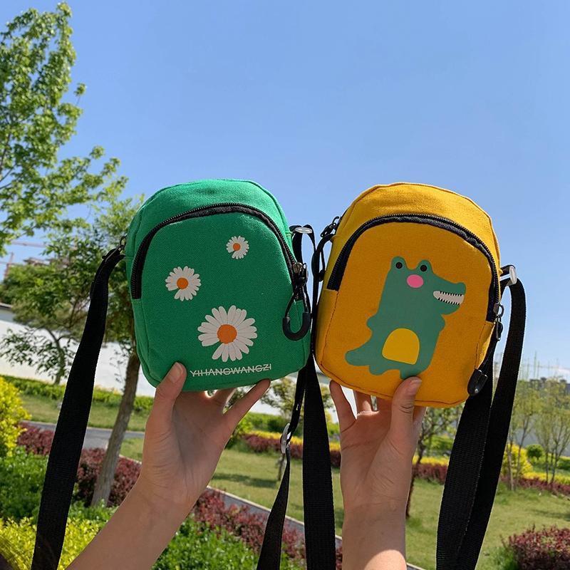 ۞﹍☊กระเป๋าเด็ก, กระเป๋าสะพายข้างไดโนเสาร์ใบเล็ก, กระเป๋าใบเล็กแฟชั่น, เด็กเดินทางอินเทรนด์, สะพายข้างเดียว, กระเป๋าผ้า