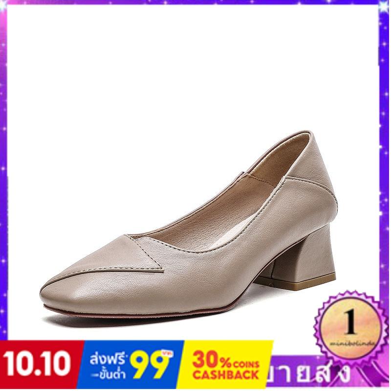⭐👠รองเท้าส้นสูง หัวแหลม ส้นเข็ม ใส่สบาย New Fshion รองเท้าคัชชูหัวแหลม  รองเท้าแฟชั่นรองเท้าผู้หญิงรองเท้าผู้หญิงหนากับร