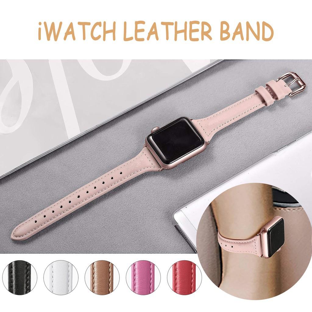 สาย applewatch สายนาฬิกา applewatch สายหนัง Apple Watch Band 40 มม . 44 มม . 42 มม . 38 มม . สายหนังแท้พรีเมี่ยม iWatch