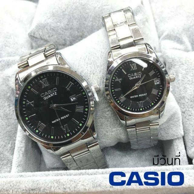 Casio นาฬิกาข้อมือสายสแตนเลส สีเงิน✨มีเก็บเงินปลายทาง✨มีช่องบอกวันที่ 🔥พร้อมส่ง✨ราคาพิเศษ