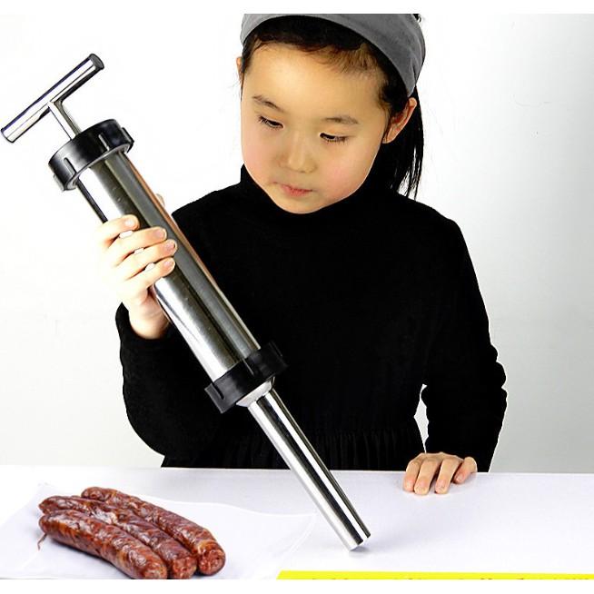 กระบอกยัดไส้กรอก เครื่องทำไส้กรอก อุปกรณ์ยัดไส้สำหรับทำไส้กรอก