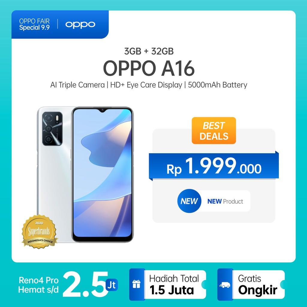 OPPO A16 3GB/32GB [13MP Triple Camera, HD+ Eye-care Display, 5000mAh]