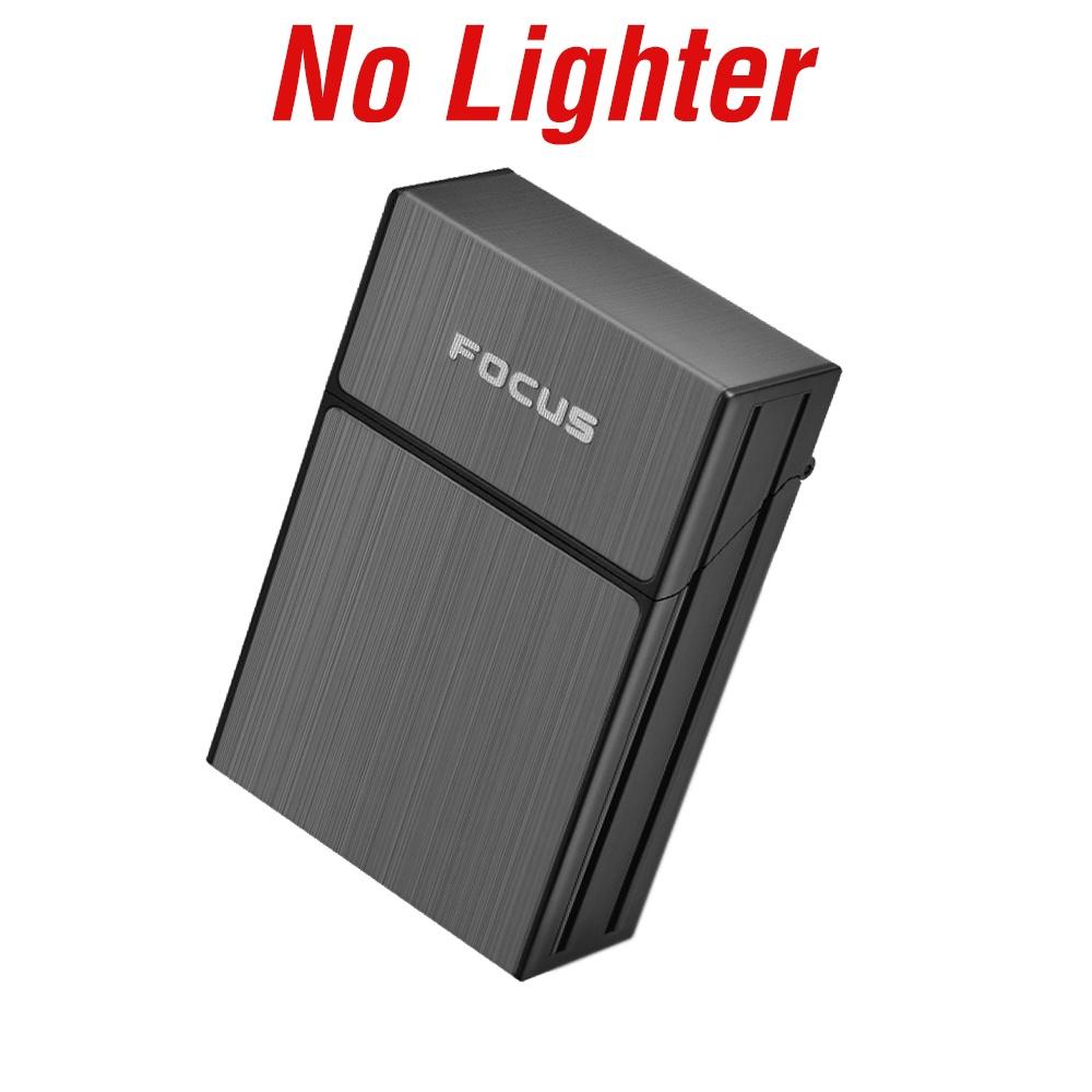 กล่องซิการ์:New Cigarette Case With Magnetic Slit Lighter Cigarette Holder Waterroof Cigarette Box USB Rechargeable Elec