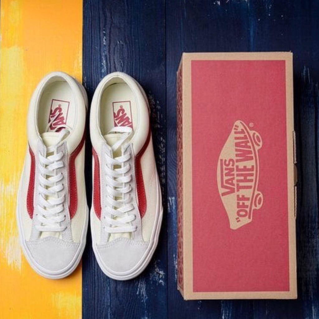 "VANS OLD SKOOL ""Style 36"" Marshmallow (Red/Blue)"
