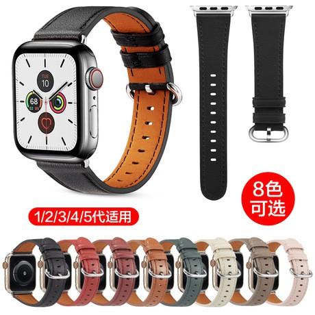 สายนาฬิกาข้อมือสายหนังสําหรับ Apple Watch Hermes