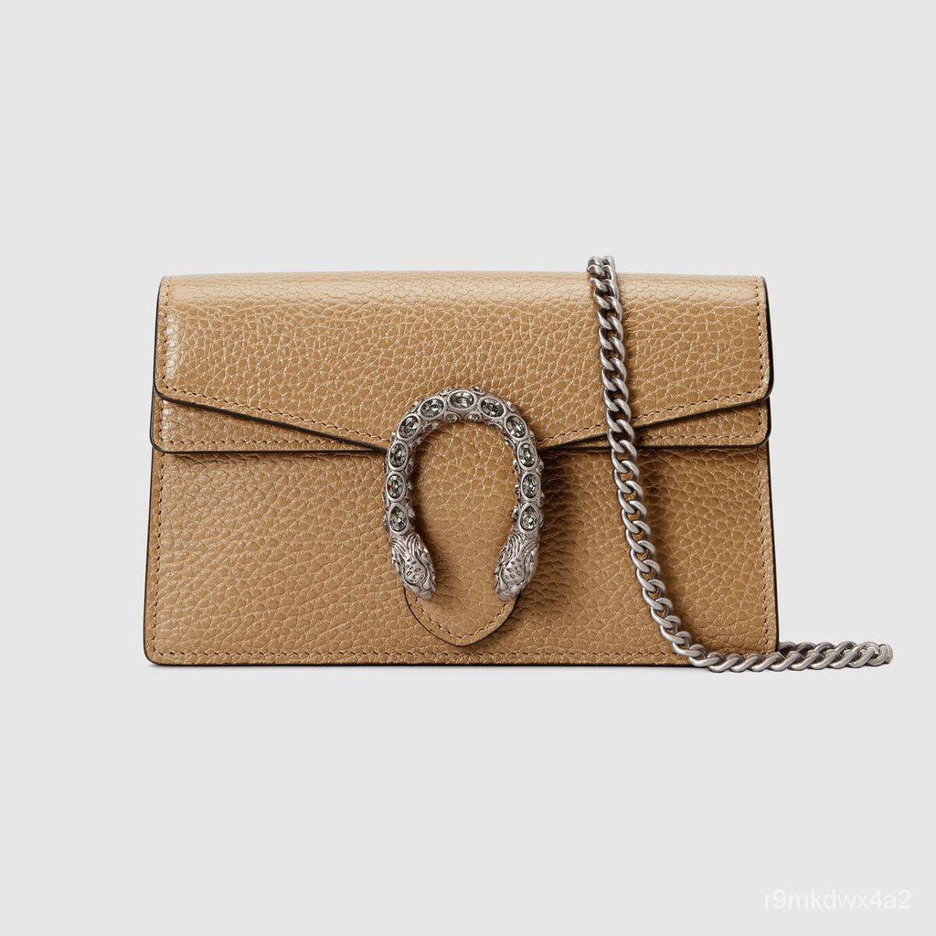 Gucci / ใหม่ / Dionysus series super mini handbag / brown leather / ladies handbag / 100% authentic / 16.5-20CM
