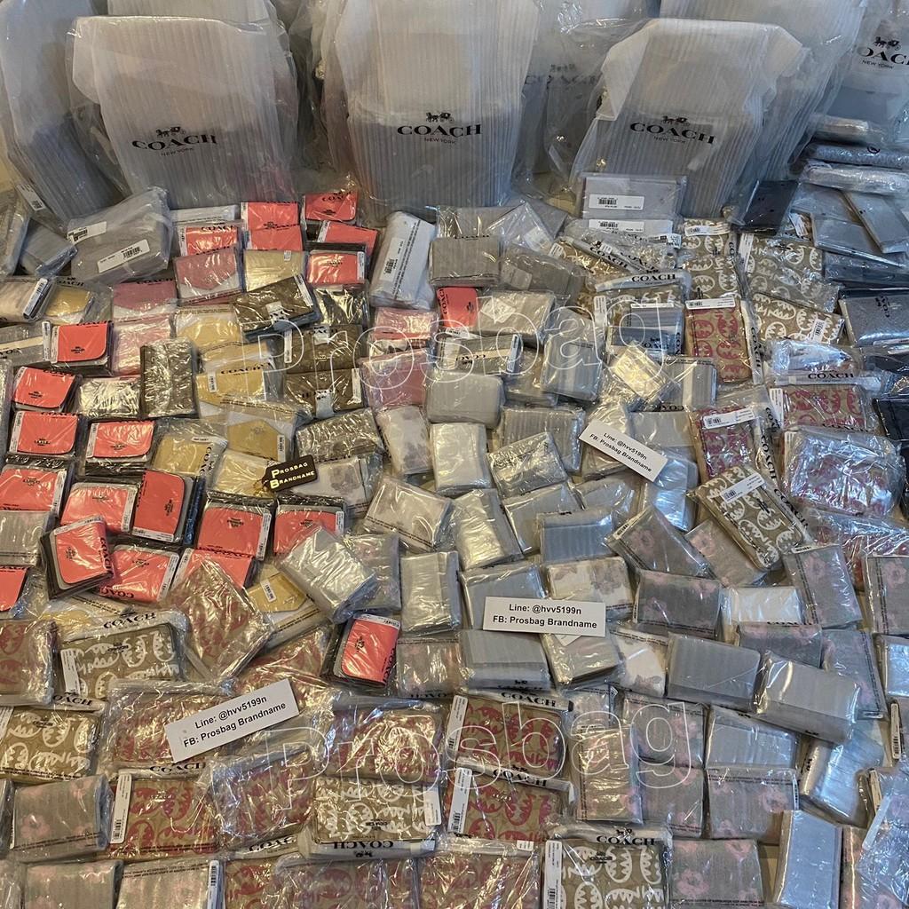 ขายส่งเฉพาะจุด☞Coach กระเป๋าสตางค์ใบสั้น งาน shop แท้💯 พร้อมส่งที่ไทย (รับ coin คืน เพิ่มอีก 10% เก็บ code หน้าแอพได้เล