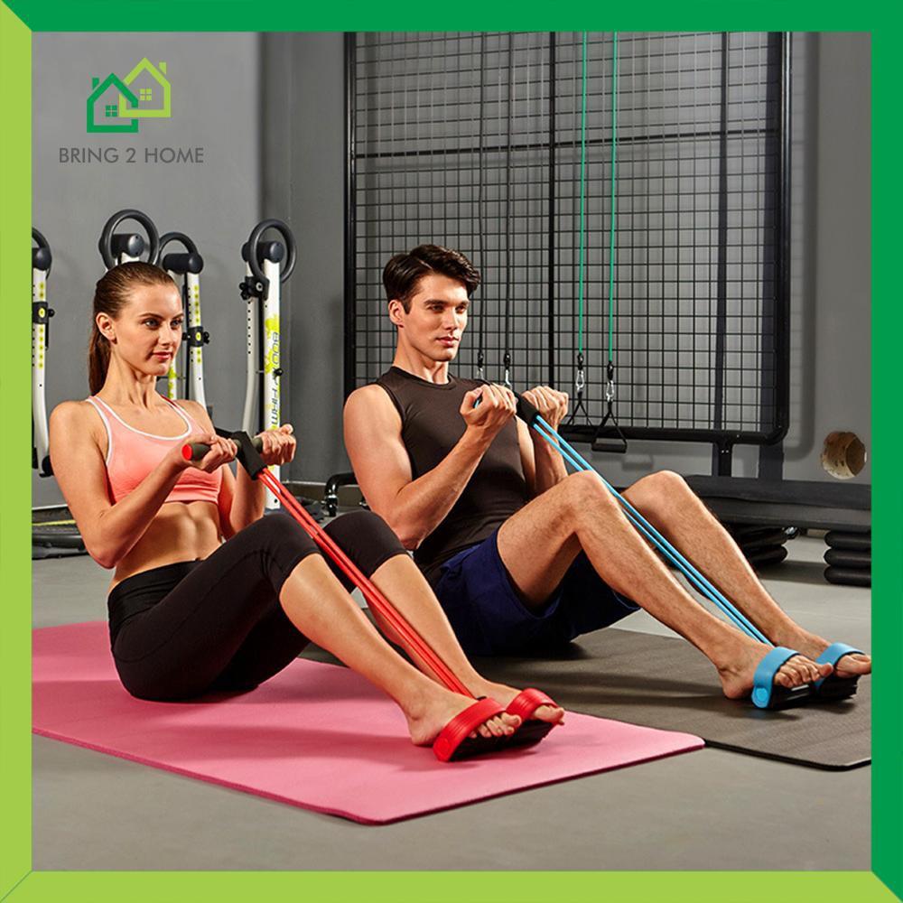อุปกรณ์ฟิตเนสและออกกำลังกายอื่นin กีฬาและกิจกรรมกลางแจ้ง♂Bring2Home ยางยืดออกกำลังกาย อุปกรณ์กีฬาออกกำลังกาย แบบ 4 เส้น