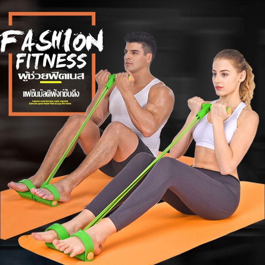 โยคะ ยางยืดออกกำลังกาย  ยางยืดโยคะ Elastic exercise อุปกรณ์ออกกำลังกาย อุปกรณ์ฟิตเนส ออกกำลังกายได้ทุกสัดส่วนมากกว่า 100