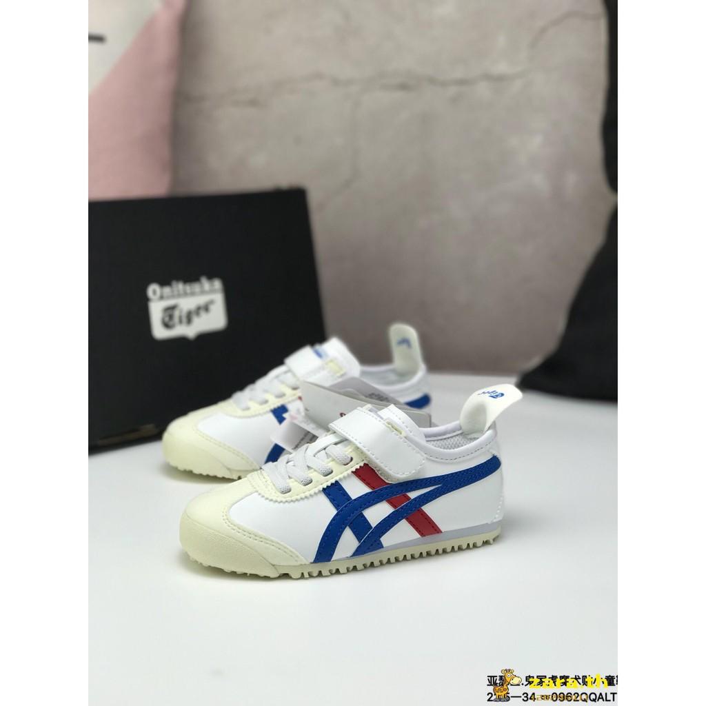 separation shoes 1c66b 51b99 Asics Yasushi Onitsuka Tiger mexico66. Ghost Tiger Velcro Kids Shoes White