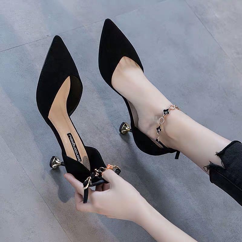 รองเท้าส้นสูง หัวแหลม ส้นเข็ม ใส่สบาย New Fshion รองเท้าคัชชูหัวแหลม  รองเท้าแฟชั่นรองเท้าใหม่รองเท้าผู้หญิงรองเท้าส้นสู