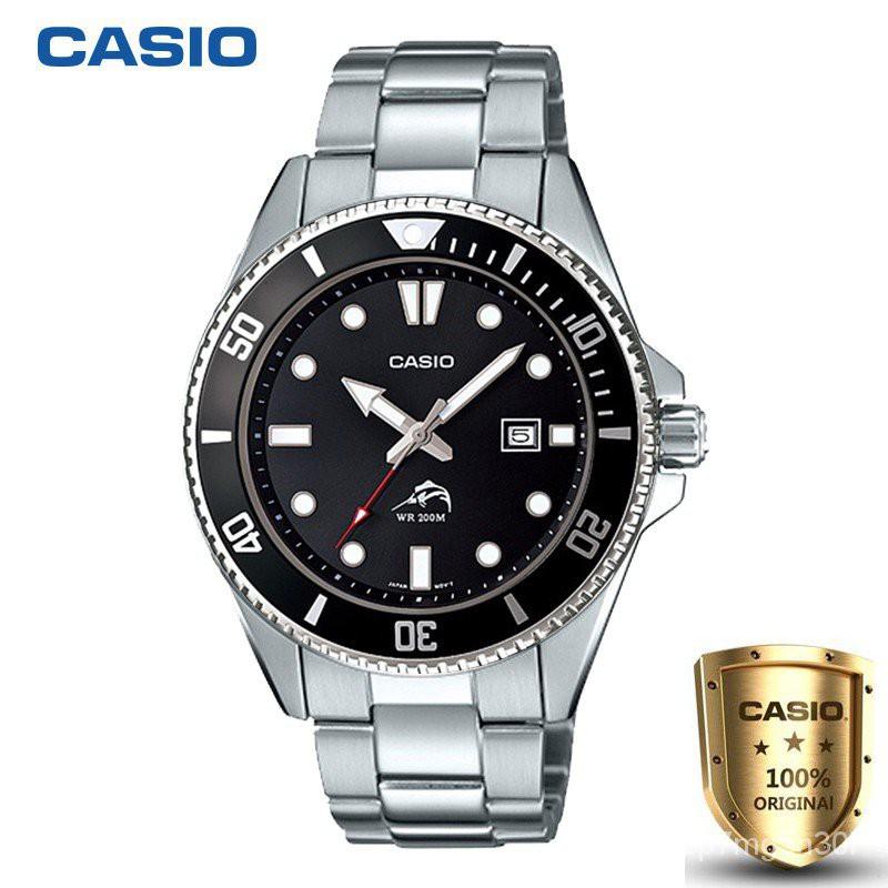 Casio Standard สินค้าขายดี นาฬิกาข้อมือผู้ชาย สายสแตนเลส MDV106BK-1A (ของแท้100%)